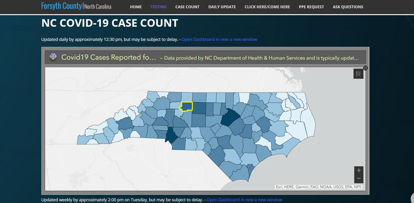 New interactive COVID Dashboards give public greater access to case data